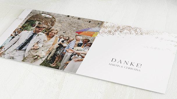 Danksagungskarten Hochzeit - Goldstaub