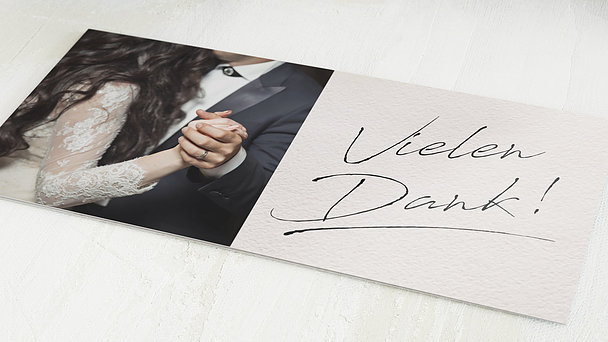 Danksagungskarten Hochzeit - Notizblatt