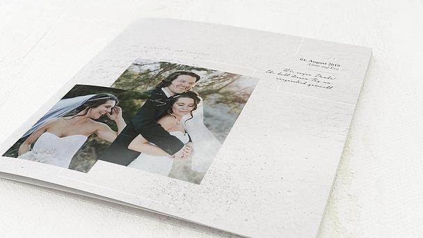 Danksagungskarten Hochzeit - Silberschleier