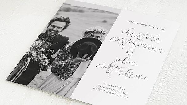 Danksagungskarten Hochzeit - Silhouette