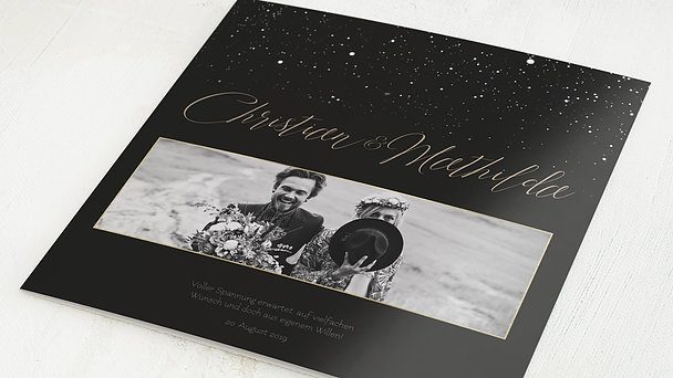 Danksagungskarten Hochzeit - Sternenschar