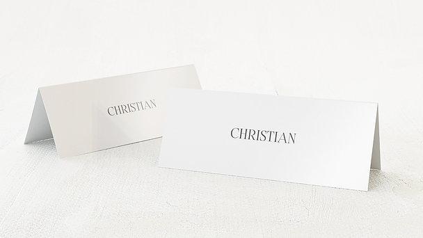 Tischkarten Hochzeit - Silhouette