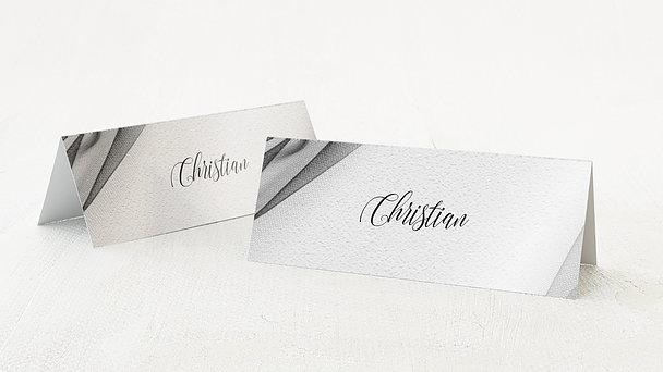 Tischkarten Hochzeit - Tüllband