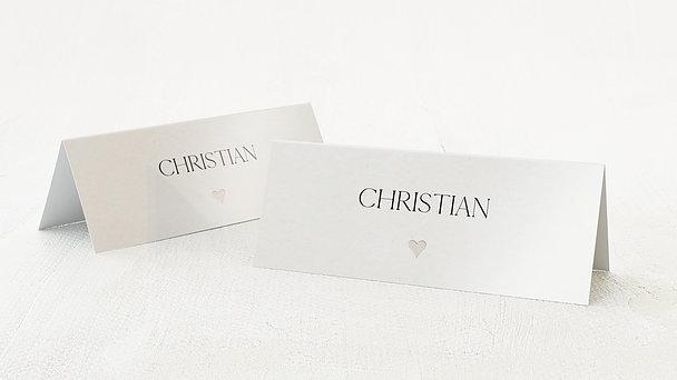 Tischkarten Hochzeit - Lettering