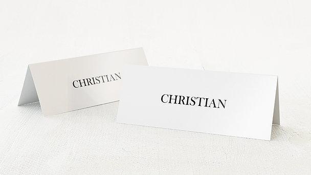 Tischkarten Hochzeit - Deep Blue