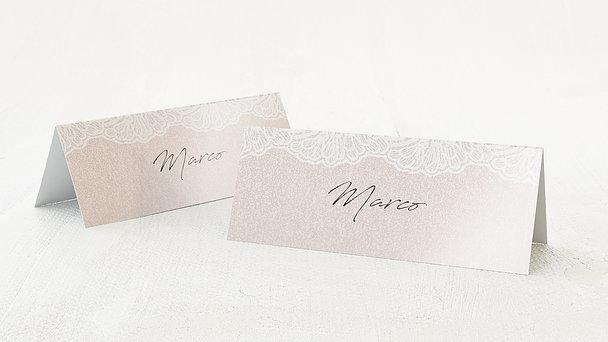 Tischkarten Hochzeit - Bordüre