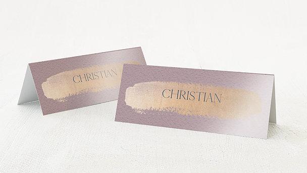 Tischkarten Hochzeit - Kupferglanz
