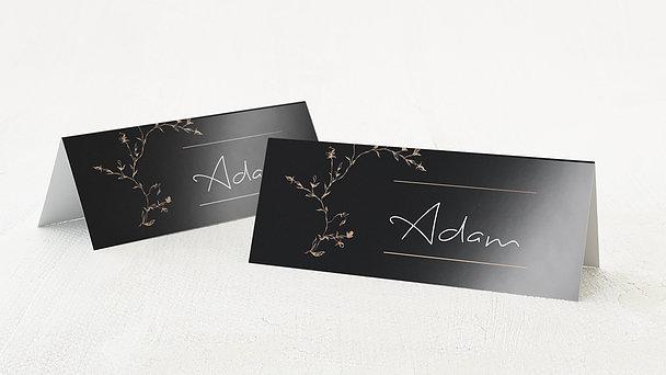 Tischkarten Hochzeit - Rosenranke