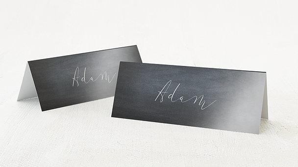 Tischkarten Hochzeit - Kreidestrich