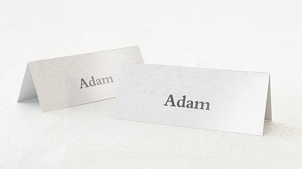 Tischkarten Hochzeit - Silberschleier