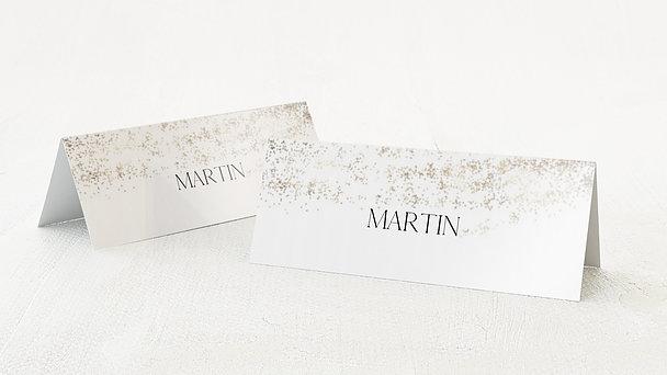 Tischkarten Hochzeit - Goldstaub